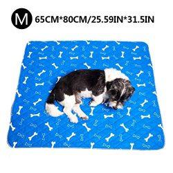 seawe Dog Pee Pad Dog Pannolino Dog Training Pad, Impermeabile Lavabile Riutilizzabile Forte Assorbimento urina Materasso Bone Print Outgoing