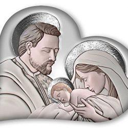 Lupia Capezzale Sacra Famiglia in Legno Heart The Kiss Ceramic Grey 50×65 cm