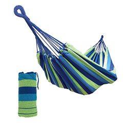 Amaca in Cotone Portatile e richiudibile in Un Sacchetto, Colore Blu, Dimensioni: 2x1mt