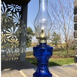 GCMJ Stufa Kerosene, Ultra Pure Lamp Lanterne con Manopola Dimmer Antiquariato Senza Fumo Inodore Lampada Campeggio (Color : Blue)