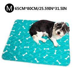 Thrivinger Dog Pee Pad Dog Pannolino Dog Training Pad, Impermeabile Lavabile Riutilizzabile Forte Assorbimento urina Materasso Bone Print Newcomer