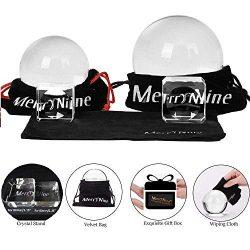 MerryNine Lensball Sfera di cristallo K9 con supporto per fotografia, 60mm/2.36 + 80mm/3.14″