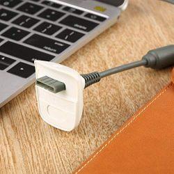 KinshopS Nuovo Caricatore USB per Cavo di Ricarica USB per Controller di Gioco Wireless Xbox 360