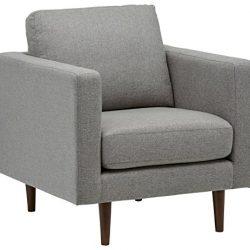 Marchio Amazon –Rivet, sedia modello Revolve, stile moderno, tessuto grigio
