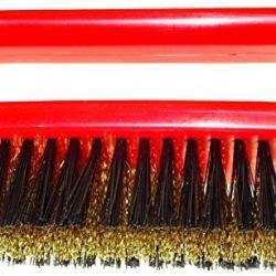 DELARA Spazzola per pelle scamosciata di alta qualità con setole in ottone