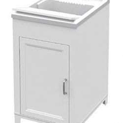 Adventa Lavatoio-Lavapanni in Resina Interno/Esterno 45x50x85 h, Bianco