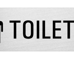 Targa autoadesivo in alluminio – Toilette Donne e Uomini | 240×80 mm | Ofform Design Originale | No.25086-S