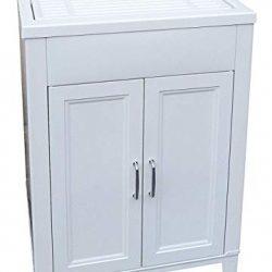 Adventa Lavatoio-Lavapanni in Resina Interno/Esterno 60x50x85 h, Bianco, 60 x 50 x 85 h