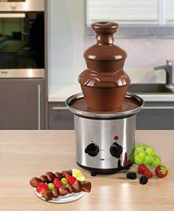Acciaio inossidabile Fontana di cioccolato fontana di cioccolato fontana elettrico formaggio frutta-Salsa Salsa Barbecue (Sparsame 170Watt, per circa 500gr o circa 750G cioccolato fondente) 5