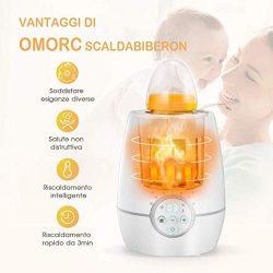 OMorc Scaldabiberon Portatile Elettrico, Sterilizzatore con Display LCD 4