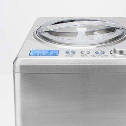 H.Koenig HF340 Macchina per Gelati Verticale, Gelatiera, 2L, Programmabile, Gruppo freddo integrato, Pronto in30/ 40min, Acciaio Inox, 180W