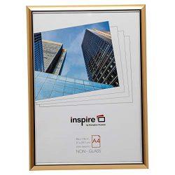 Hampton Frames EasyLoader Oro a4 21×30 cm Foto Certificato Telaio di Sicurezza plexi Vetro Photo Blend easa4gdp