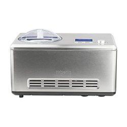 H.Koenig HF320 Gelatiera per Gelati e sorbetti con compressore autorefrigerante, 2L, Preparazione in 40min, Acciaio Inox, 180W, 180 W, Inossidabile, Grigio