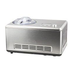 H.Koenig HF320 Gelatiera per Gelati e sorbetti con compressore autorefrigerante, 2L, Preparazione in 40min, Acciaio Inox, 180W, 180 W, Inossidabile, Grigio 2