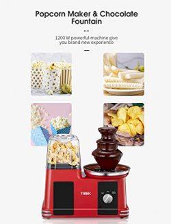 Macchina per popcorn 2 in 1 come avere il cinema a casa vostra con fontana di cioccolato facile da utilizzare leggera non contiene BPA 1200 W 5