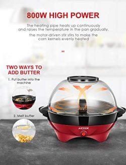 Aicok Macchina per Popcorn 5L con Rivestimento Staccabile 3