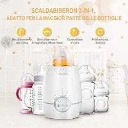 OMorc Scaldabiberon Portatile Elettrico, Sterilizzatore con Display LCD 5