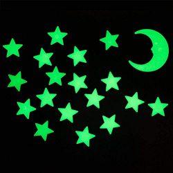 The Glowhouse Super bright bagliore nel buio stelle e la luna da parete/soffitto adesivi