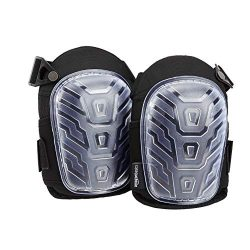 AmazonBasics – Ginocchiere professionali, con resistente imbottitura in schiuma, comodo cuscino in gel, clip regolabili facili da fissare, colore: trasparente, 1 paio