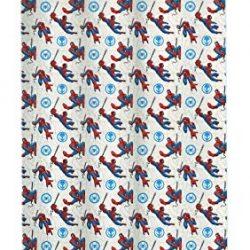 Hasbro Spiderman Tende a Velo, Poliestere, Bianco, Rosso, Blu, cm. 140×290