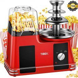 Macchina per popcorn 2 in 1 come avere il cinema a casa vostra con fontana di cioccolato facile da utilizzare leggera non contiene BPA 1200 W