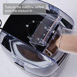 Aicok Macchina del Gelato Gelatiera Frozen Yogurtiera Macchina Yogurt 1.5L con Funzione Timer e Ricetta, Nero 3