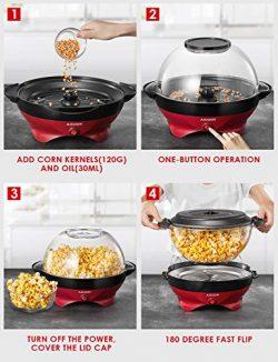 Aicok Macchina per Popcorn 5L con Rivestimento Staccabile 5