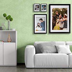 Innova – Set di 3 cornici portafoto di vetro in plexiglas, formato A4, 21 x 29,7 cm