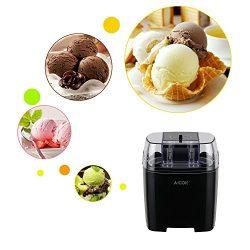 Aicok Macchina del Gelato Gelatiera Frozen Yogurtiera Macchina Yogurt 1.5L con Funzione Timer e Ricetta, Nero 2